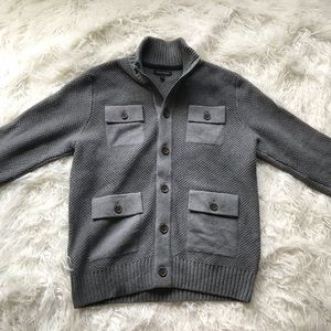 BANANA REPUBLIC GREY BUTTON DOWN CARDIGAN SWEATER